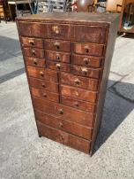 ANTIQUE SMALL PARTS CABINET