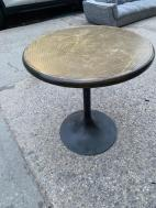 BRASS ROUND DINING TABLE
