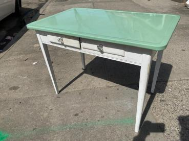 ENAMEL TOP TABLE OR DESK
