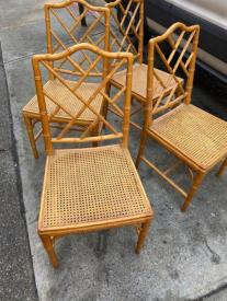 FAUX BAMBOO CANE CHAIRS2