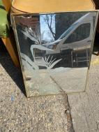 GOLD FRAMED ETCHED MIRROR