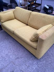 MID CENTURY YELLOW COUCH