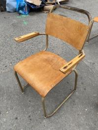 OLD WOOD SCHOOL CHAIRS